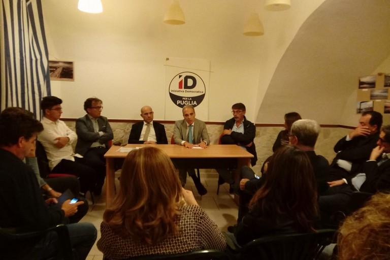 Alfonso Pisicchio ha incontrato i vertici locali di Iniziativa Democratica
