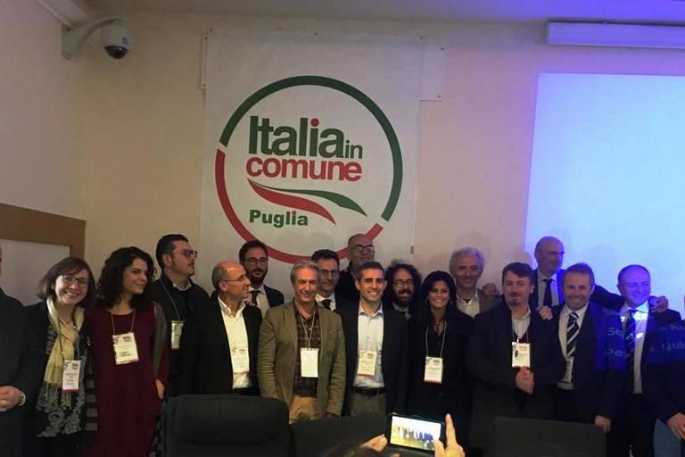 Depalma con Pizzarotti ed i dirigenti pugliesi di Italia in Comune