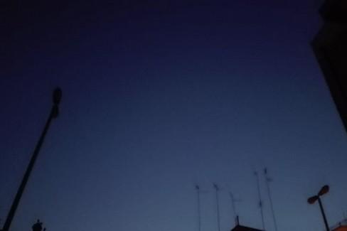 Lampioni spenti di notte