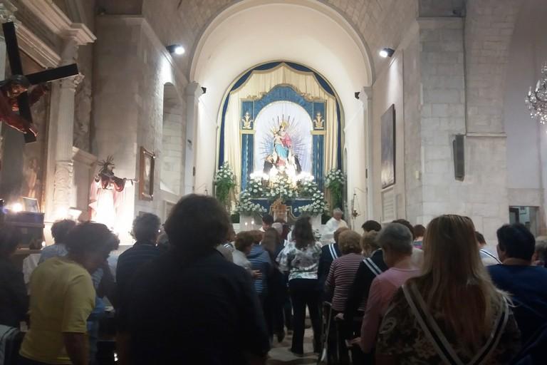 La Madonna del Rosario nella chiesa dello Spirito Santo. <span>Foto Gianluca Battista</span>