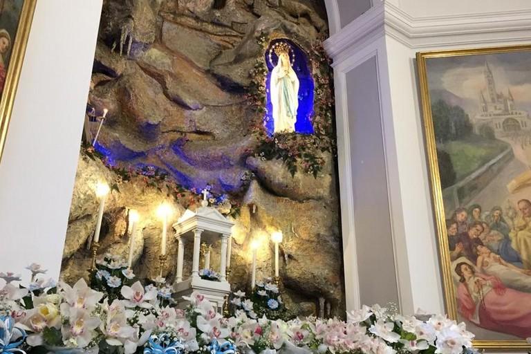 La grotta nella parrocchia Sant'Agostino. <span>Foto Parrocchia Sant'Agostino</span>