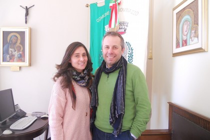Marinella Falca e il Sindaco Tommaso Depalma. <span>Foto Gianluca Battista</span>