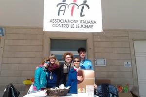 Il gruppo scout AGESCI sostiene l'AIL. <span>Foto Gianluca Battista</span>