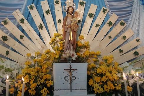 L'altarino della famiglia Ditillo delle passate edizioni. <span>Foto Gianluca Battista</span>