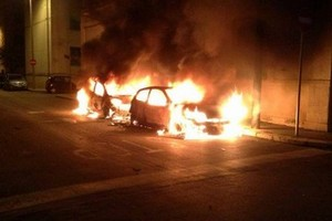 L'incendio avvenuto in via Lupis