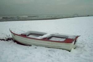 Nevicata sul mare