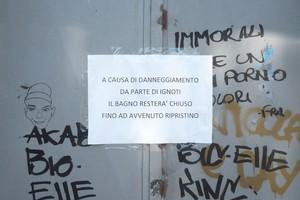 Cartelli Da Bagno : Giovinazzo: villa comunale: bagni ancora off limits