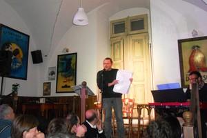 Davide Ceddia al Vecchio Caffè Amoia. <span>Foto Gianluca Battista</span>