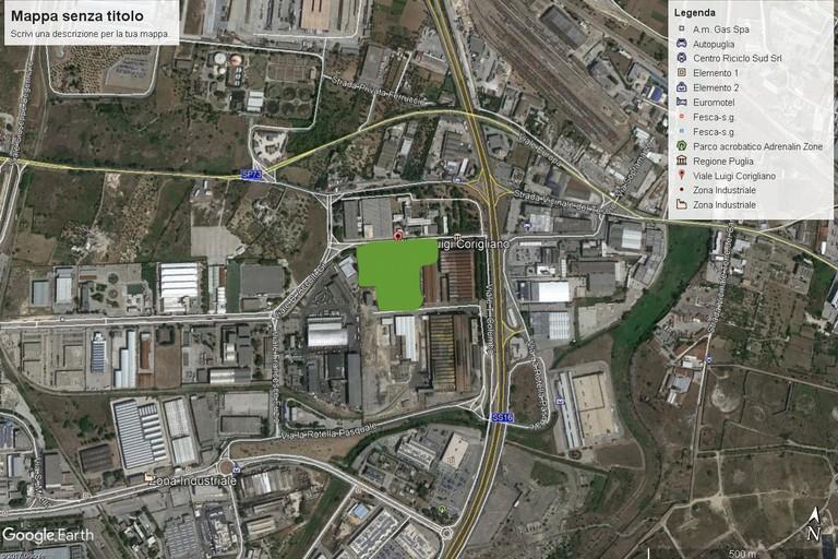 L'area d'insediamento dell'inceneritore Newo