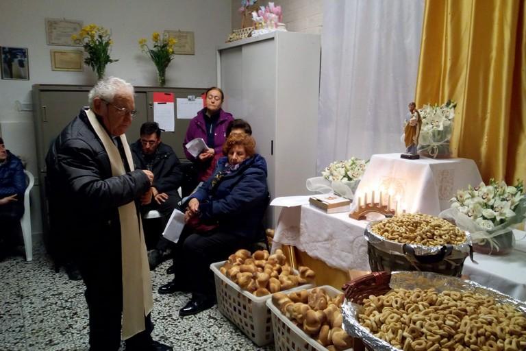 Benedizione dell'altarino Anffas. <span>Foto Marzia Morva</span>