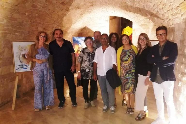 Foto di gruppo nelle Sale del Bastione