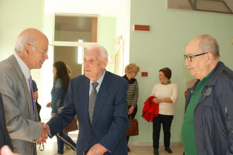 Il preside Martinelli con il prof. Mastandrea