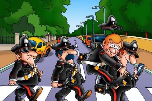 Una delle vignette in mostra