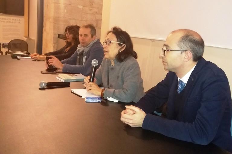 La prof.ssa Ascarelli parla in Sala San Felice (Foto Gianluca Battista)
