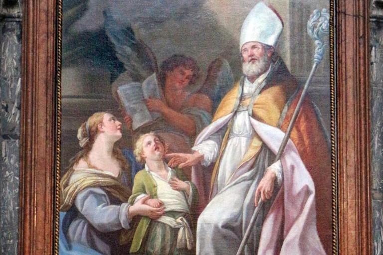 Giovanni Odazzi - San Biagio risana il figlio della vedova