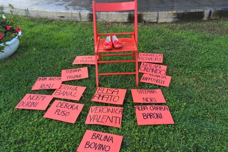 La sedia rossa sparita. <span>Foto Marzia Morva</span>