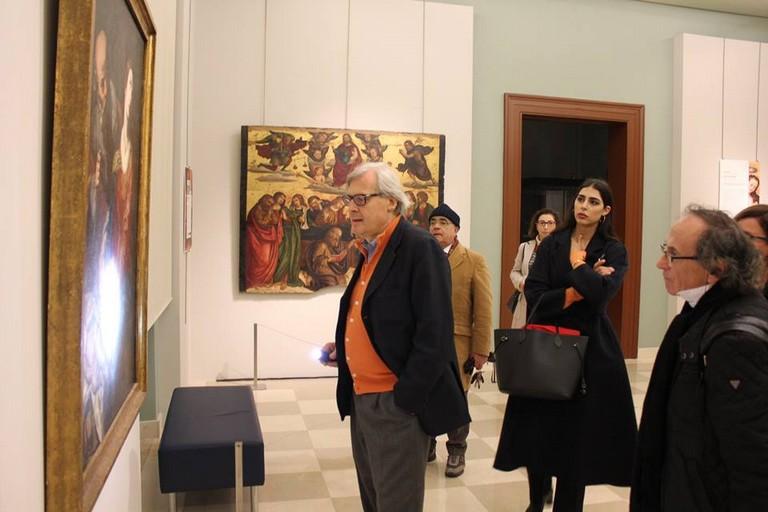 Vittorio Sgarbi al Museo Diocesano (Foto Museo Diocesano Molfetta)