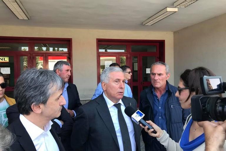 Sicolo intervistato dal Tg3 della Puglia. <span>Foto CNO</span>