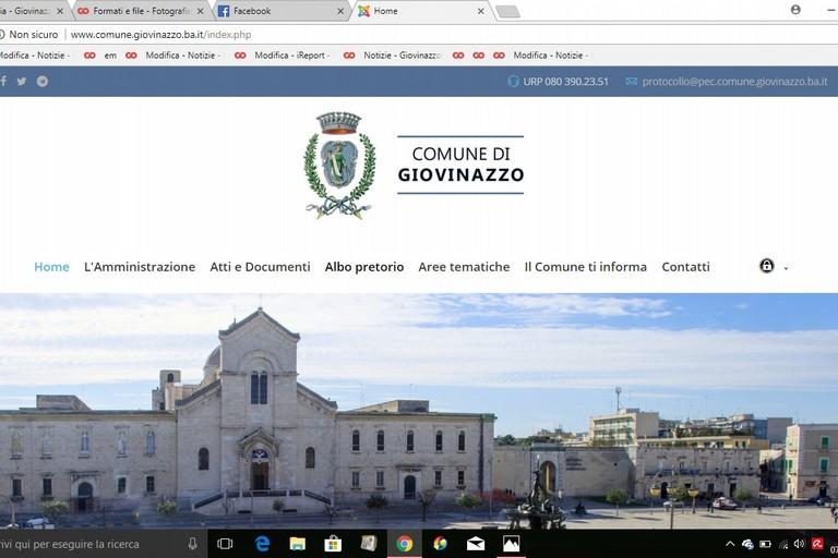 L'Home page del sito comunale