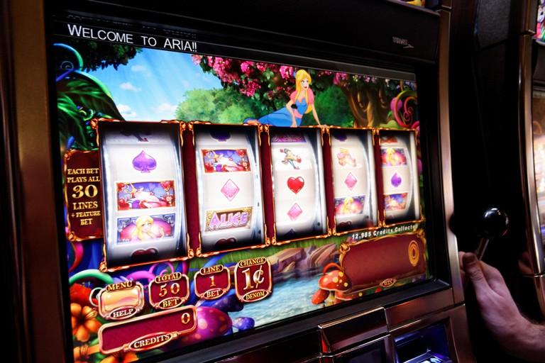 Una slot machine