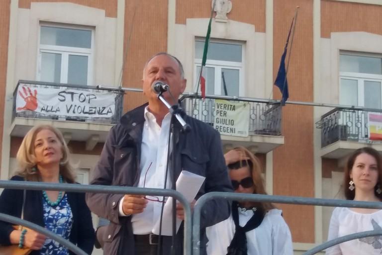 Antonio Galizia sul palco