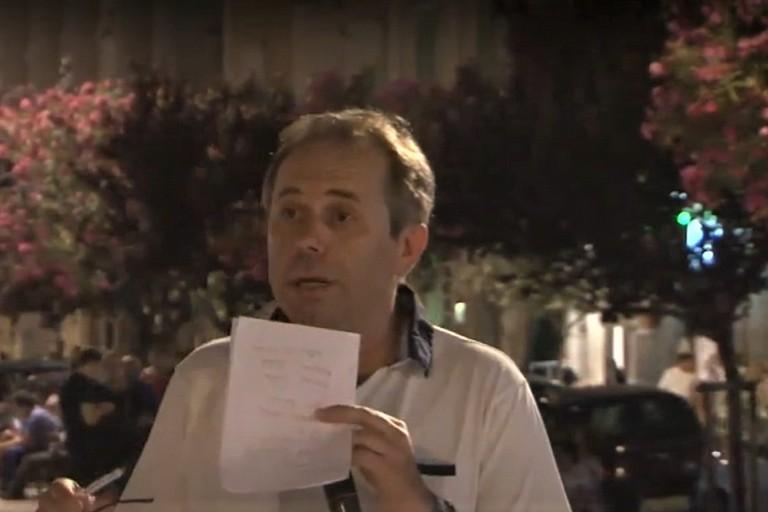 Tommaso Depalma durante le comunicazioni