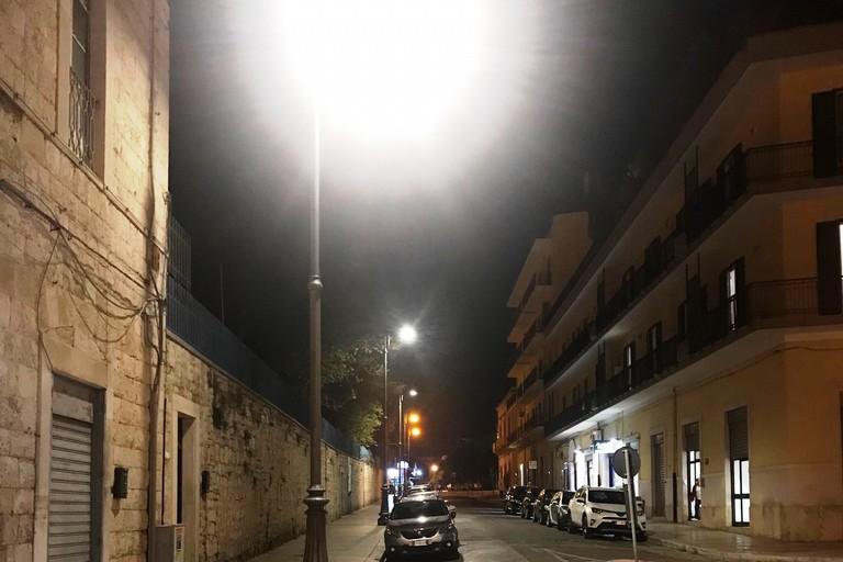 Nuova illuminazione su Corso Amedeo. <span>Foto Uff. Stampa Comune </span>