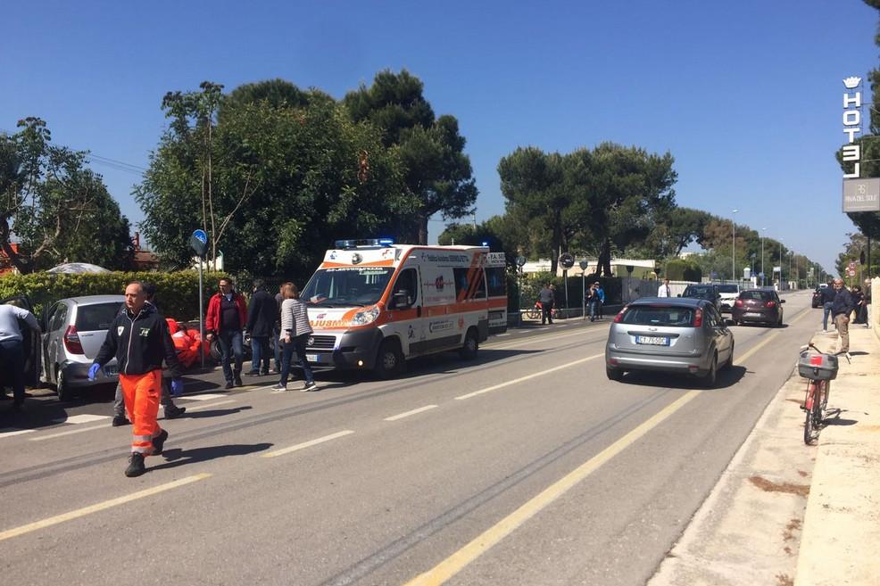 L'incidente sulla strada statale 16 Adriatica